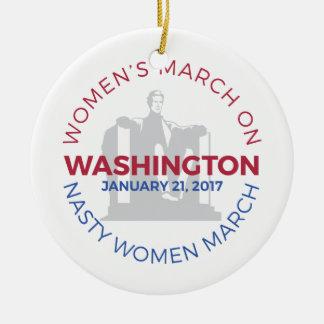 Ornamento De Cerâmica O março das mulheres em Washington - mulher