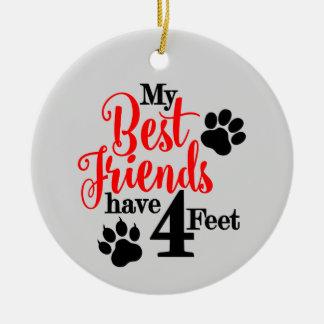 Ornamento De Cerâmica O melhor amigo do animal de estimação