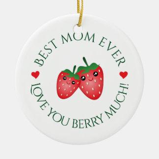 Ornamento De Cerâmica O melhor amor da mamã nunca você baga muito Natal
