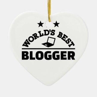 Ornamento De Cerâmica O melhor blogger do mundo
