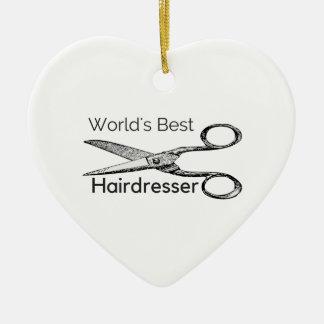 Ornamento De Cerâmica O melhor cabeleireiro do mundo