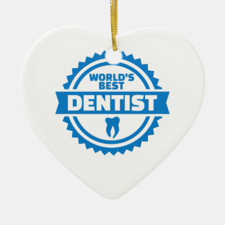 Ornamento De Cerâmica O melhor dentista do mundo