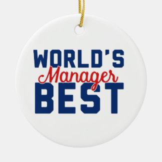 Ornamento De Cerâmica O melhor gerente do mundo