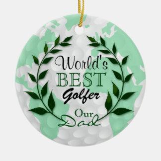 Ornamento De Cerâmica O melhor jogador de golfe do mundo - nosso texto