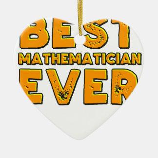 Ornamento De Cerâmica O melhor matemático nunca