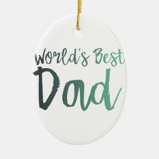 Ornamento De Cerâmica O melhor pai do mundo