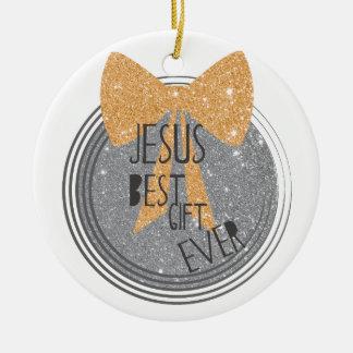 Ornamento De Cerâmica O melhor presente de Jesus nunca