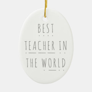 Ornamento De Cerâmica O melhor professor na decoração da fónica do mundo