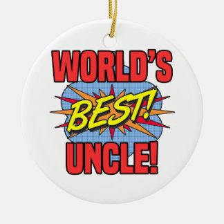 Ornamento De Cerâmica O melhor tio do mundo