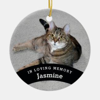 Ornamento De Cerâmica O memorial do animal de estimação personalizado