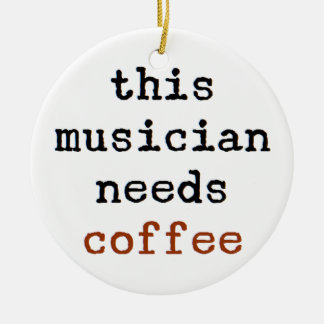 Ornamento De Cerâmica o músico precisa o café