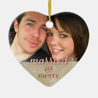 Ornamento De Cerâmica ø Natal 20xx - Casado & feliz