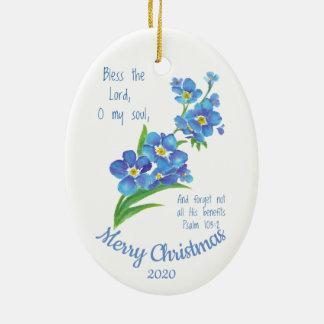 Ornamento De Cerâmica O Natal datado feito sob encomenda abençoa o