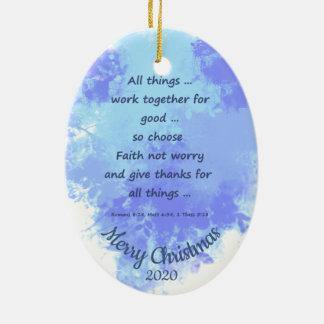 Ornamento De Cerâmica O Natal datado feito sob encomenda escolhe a