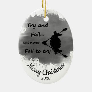 Ornamento De Cerâmica O Natal datado feito sob encomenda nunca deixa de