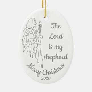 Ornamento De Cerâmica O Natal datado feito sob encomenda o senhor é meu