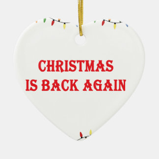 Ornamento De Cerâmica O Natal está para trás outra vez
