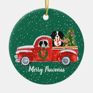 Ornamento De Cerâmica O Natal personalizado Berner persegue o caminhão