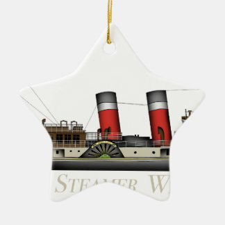 Ornamento De Cerâmica O navio a vapor de pá Waverley por Tony Fernandes