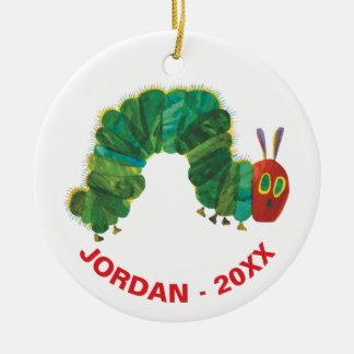Ornamento De Cerâmica O nome & o ano muito com fome de Caterpillar |