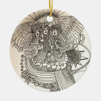 Ornamento De Cerâmica O Norns