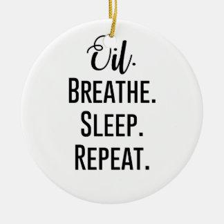 Ornamento De Cerâmica o óleo respira a repetição do sono - produtos