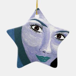 Ornamento De Cerâmica O OLHAR (azul)