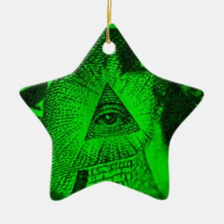Ornamento De Cerâmica O olho de Illuminati