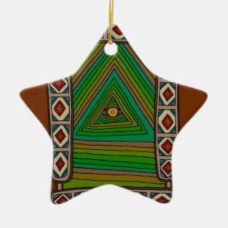 Ornamento De Cerâmica O olho Unblinking do deus