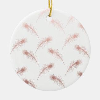 Ornamento De Cerâmica o ouro cor-de-rosa do falso claro elegante