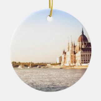 Ornamento De Cerâmica O parlamento de Budapest