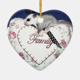Ornamento De Cerâmica O planador do açúcar ama a família
