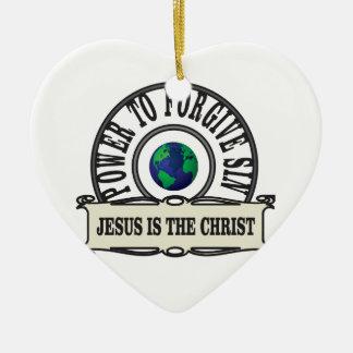 Ornamento De Cerâmica O poder de Jesus perdoa o pecado no mundo