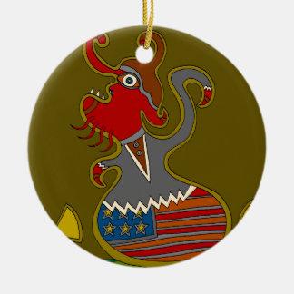 Ornamento De Cerâmica O político