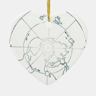 Ornamento De Cerâmica O Pólo Norte branco AE traça