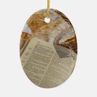 Ornamento De Cerâmica O presente do Natal espalhou o evangelho
