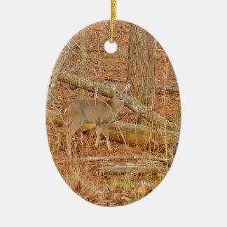 Ornamento De Cerâmica o primeiro inverno do cervo personalizado do bebê