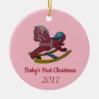 Ornamento De Cerâmica O primeiro Natal do bebê