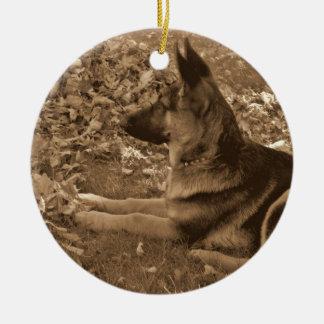 Ornamento De Cerâmica O primeiro Natal do filhote de cachorro