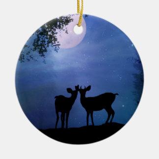 Ornamento De Cerâmica O primeiro Natal dos cervos bonitos super Ornament