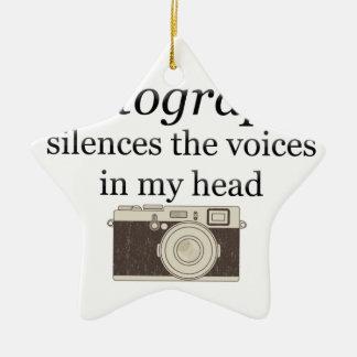 Ornamento De Cerâmica o pstvimhPhotography silencia as vozes em minha