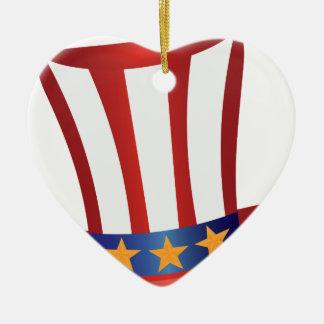 Ornamento De Cerâmica O quarto do ouro do chapéu de julho Stars a