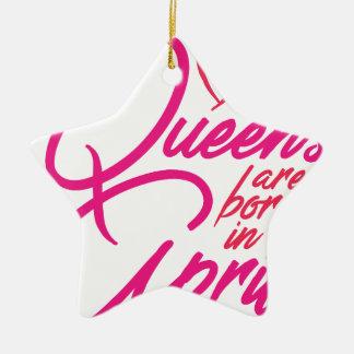 Ornamento De Cerâmica O Queens é nascido em abril