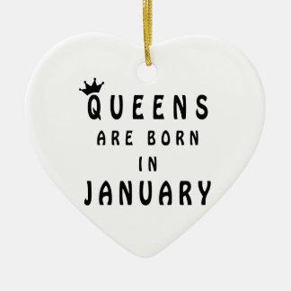 Ornamento De Cerâmica O Queens é nascido em janeiro