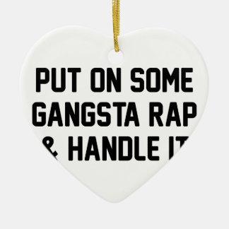 Ornamento De Cerâmica O rap de Gangsta & segura-o