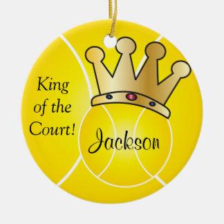 Ornamento De Cerâmica O rei amarelo da bola de tênis | da corte