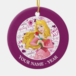 Ornamento De Cerâmica O rosa da terra arrendada da Aurora da princesa