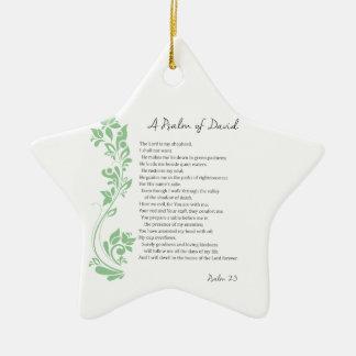 Ornamento De Cerâmica O salmo de David o senhor é meu verso da bíblia do