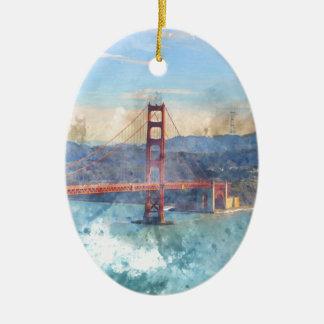 Ornamento De Cerâmica O San Francisco golden gate bridge em Califórnia