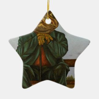 Ornamento De Cerâmica O sapo sábio